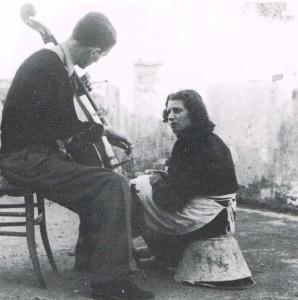 Con la moglie Terza nel marzo del 1946