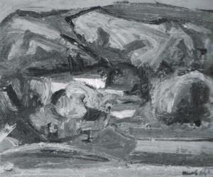 Ennio Morlotti, Paesaggio a Monticello, 1941