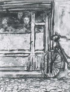 Giulio Turci, Tre dietro il vetro, 1947