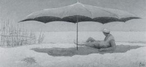 Giulio Turci, L'ombrellone rosa-lilla.