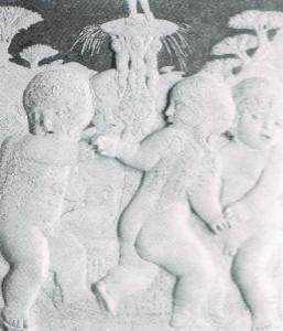 Agostino di Duccio, Ludus puerorum. Rimini, Tempio Malatestiano