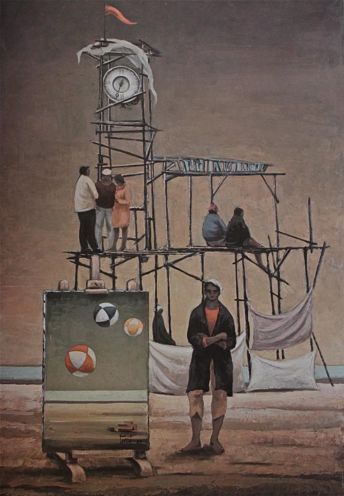 Gli uomini dell'orologio e il pittore