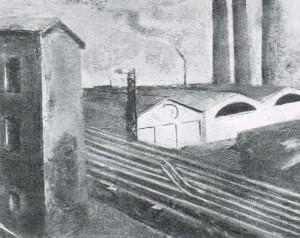 Mario Sironi, Paesaggio urbano, 1921. Milano, collezione Emilio Jesi
