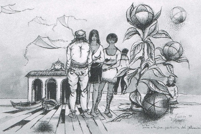Luca e la sua pianticella dei palloncini