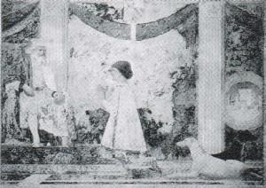 Piero della Francesca, Sigismondo Pandolfo Malatesta inginocchiato dinanzi a San Sigismondo, 1451