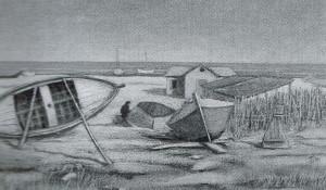 Giulio Turci, Barche sulla spiaggia